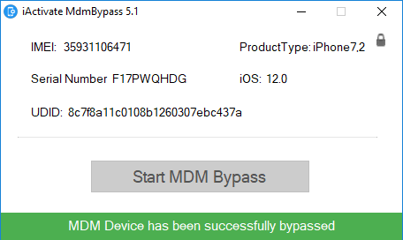 iActivate ios 12 mdm bypass